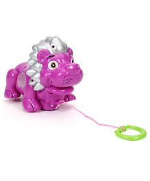 Pull Along Baby Toy Lion Shape - Purple
