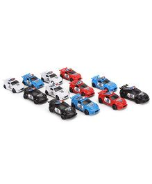 Police Car Toys - Pack of 12