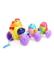 Pull Along Musical Toy Hens