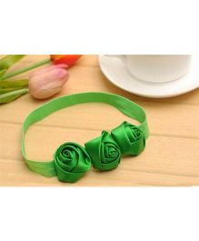 PinkXenia Flower Headband - Green