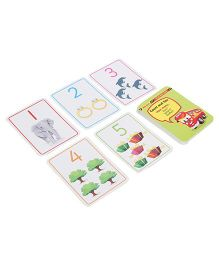 Zephyr Red Bus Flash Cards Numbers - 28 Cards