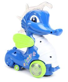 Pull Along Musical Sea Horse Toy - Blue