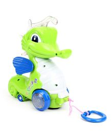 Pull Along Musical Sea Horse Toy - Green