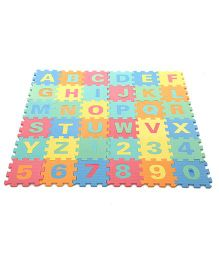 Alphabet And Numbers Puzzle Mat - 36 Pieces