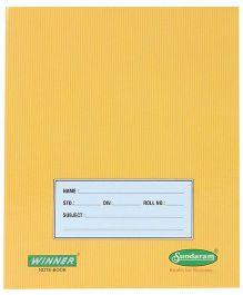Sundaram Winner Small Notebook Yellow - Single Line