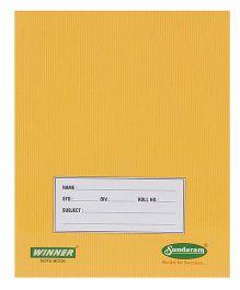 Sundaram Winner Single Line Notebook Brown - 76 Pages