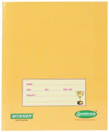 Sundaram Winner Small Notebook Yellow - Single Line