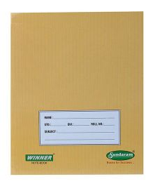 Sundaram Winner Note Book Single Line - 76 Pages
