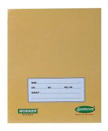 Sundaram Winner Note Book Single Line - 76 Pages