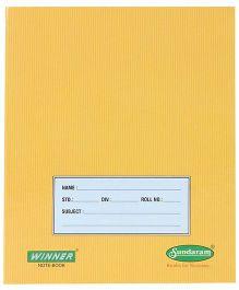 Sundaram Winner Small Notebook Yellow - Four Lines