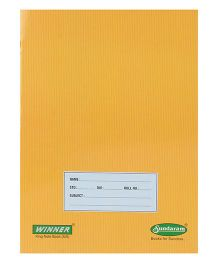 Sundaram Winner Single Line Notebook - 76 Pages