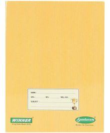 Sundaram Winner A5 Notebook Yellow - Single Line
