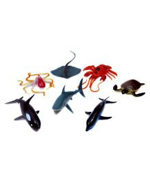 A2B Ocean Animal Plastic Toys - Multi Color