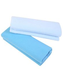 Quick Dry Bed Protector Mat Pack Of 2 Sky Blue - Small