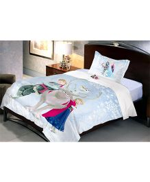 Uber Urban Disney Frozen Single Cotton Bed Sheet And Pillow Cover