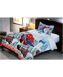 Uber Urban Spider Man Single Microfiber Bedsheet And Pillow Cover