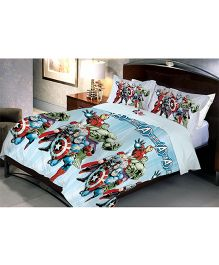 Uber Urban Avengers Queen Size Microfiber Bedsheet And Pillow Covers