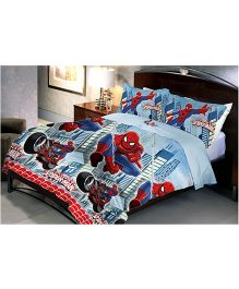 Uber Urban Spider Man Queen Size Microfiber Bedsheet And Pillow Covers