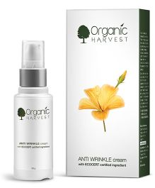 Organic Harvest Anti Wrinkle Cream With Ecocert Certified Ingredient - 30 grams