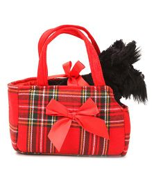 Fancy Pals Scottie in Tartan Bag - 8 inches