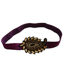 Tiny Closet Paisely Headband - Purple & Black