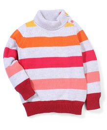 Sela Striped High Neck Sweater - Multi Color