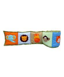 Little Pipal Jungle Friends Crib Bumper - Multicolor