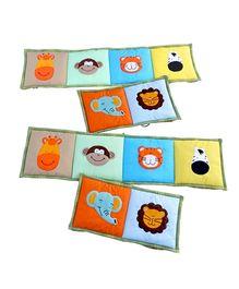 Little Pipal Jungle Friends Crib Bumper Multicolor - 4 Pieces