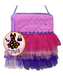 Little Pipal Diva Print Tutu Tote Bag - Multicolor