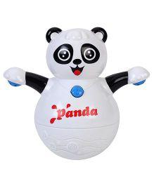 Kumar Roly Poly Animal World Tumbler Panda Toy - White