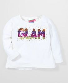 Vitamins Full Sleeves Top Sequin Work - Off White