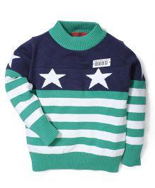 Noddy Original Clothing Stripe Sweater - Navy Green