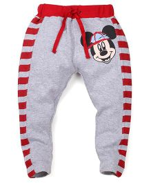 Disney by Babyhug Leggings Mickey Patch - Grey and Red