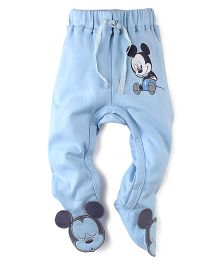 Disney by Babyhug Bootie Legging Mickey Patch - Light Blue
