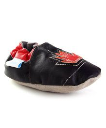 JACK&LILY Baby Shoes - Carbon Black & Red