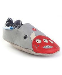 JACK&LILY Baby Shoes - Grey & Red