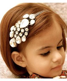 D'chica Mughal Style Hairband - Golden