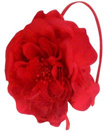D'chica Flower Hairband - Red