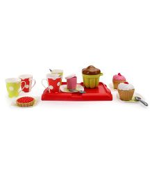 Ecoiffier Breakfast On A Tray Pretend Play Set - Red