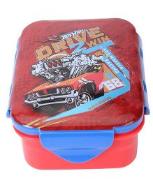 Hotwheels Small Lunch Box - Red Blue
