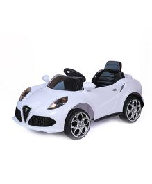 Happykids Battery Operated Ride On Car With Remote Control - White