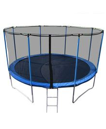 Playwell Trampoline with Enclosure 8 ft - Blue