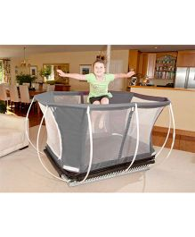 Playwell Springfree 3 in 1 Mini Trampoline with Enclosure - Black