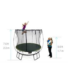 Springfree Compact Round Trampoline with Enclosure - Black