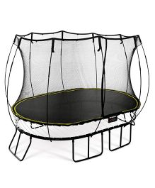 Playwell Springfree Medium Oval Trampoline with Enclosure - Black