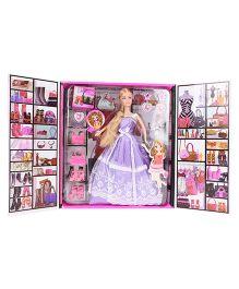 Fab n Funky Atinil Fashion Doll Set Purple -  27 cm