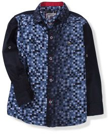 Chase Checks Print Shirt - Black