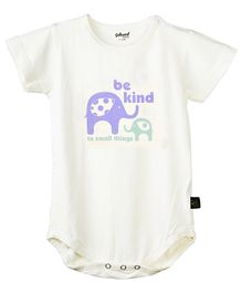 Omved Be Kind To Small Things Organic Bamboo Onesie - Off White
