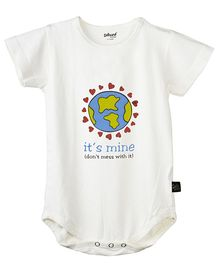 Omved's Its Mine Organic Bamboo Onesie - Off White