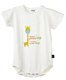 Omved When I Grow Up Organic Bamboo Onesie - Off White